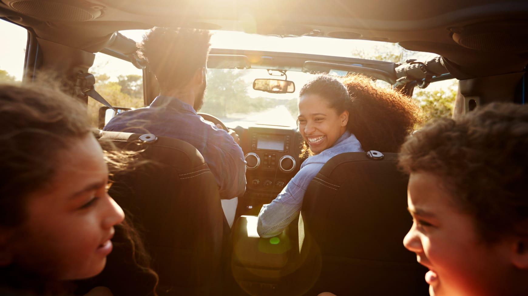 A family car ride
