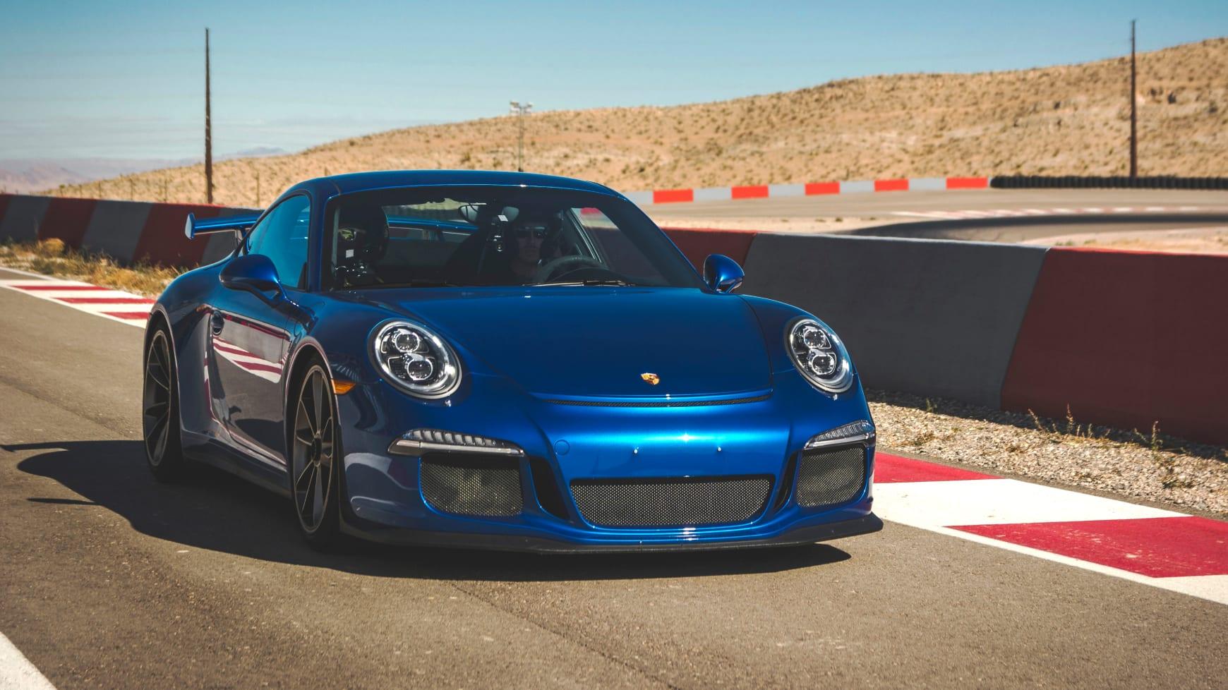 A Porsche on a Race Track