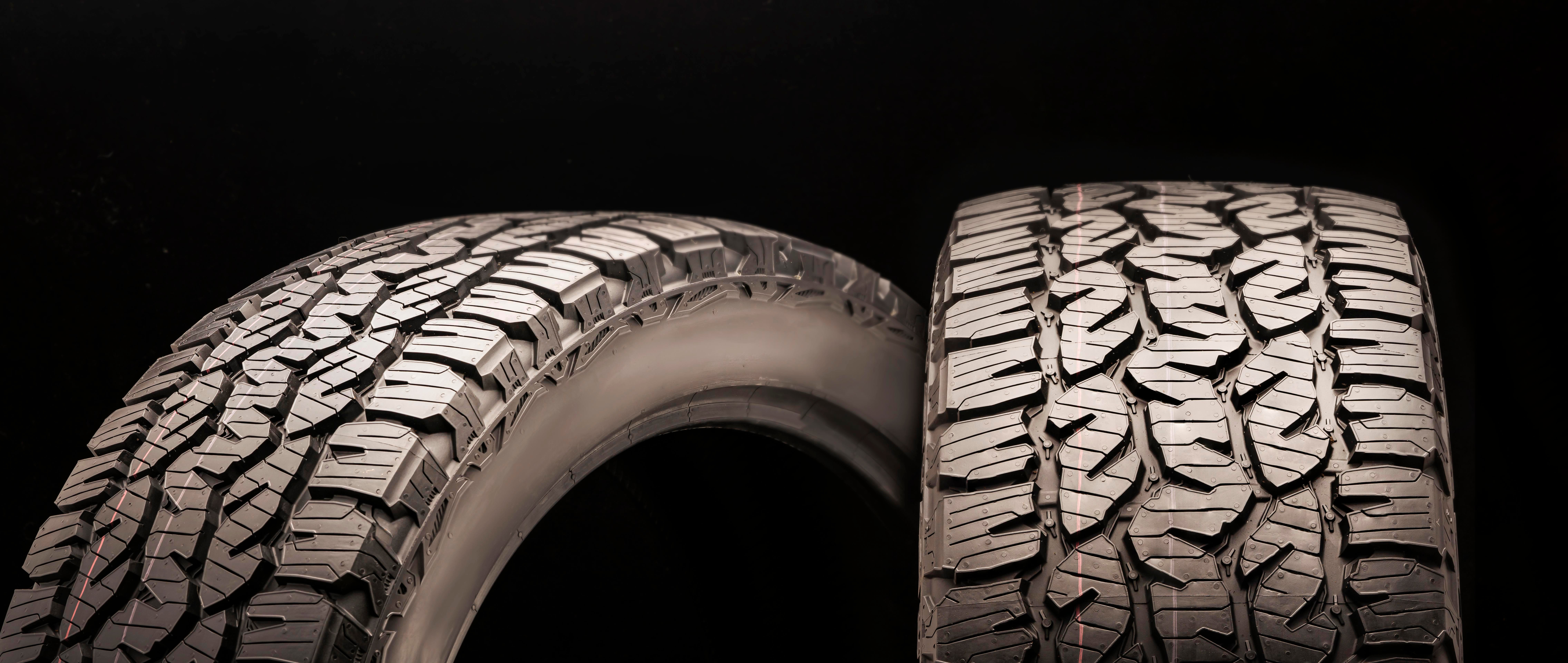 Tire aspect ratio showing tread and sidewall